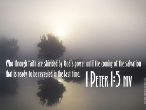 1 Peter 1:5 – God's power Wallpaper