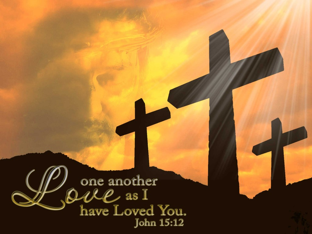 John 15:12 – Love one another christian wallpaper free download. Use on PC, Mac, Android, iPhone or any device you like.