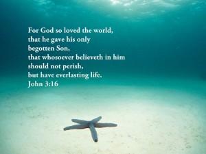 John 3:16 – For God so loved the world Wallpaper