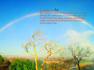 Revelation 21:3 – A great voice out of heaven Wallpaper