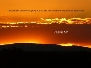 Psalm 19:1 – Glory of God Wallpaper