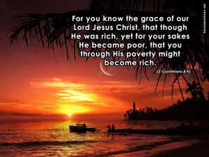 2 Corinthians 8:9 – Grace of our Lord Jesus Christ Wallpaper