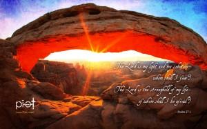 Psalm 27:1 – My light and salvation Wallpaper