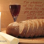 1 Corinthians 11:26 – The Bread and Cup Wallpaper Christian Background