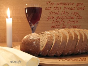 1 Corinthians 11:26 – The Bread and Cup Wallpaper