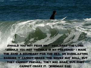 Jeremiah 5:22 – Fear Wallpaper