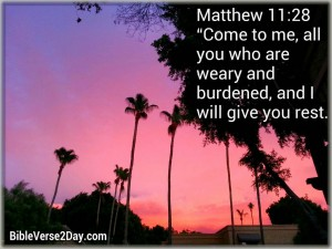 Matthew 11:28 – I will Give you Rest Wallpaper