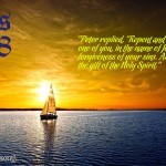 Acts 2:38 – Repent Wallpaper Christian Background