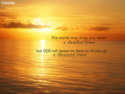 God will Lift you up christian wallpaper free download. Use on PC, Mac, Android, iPhone or any device you like.