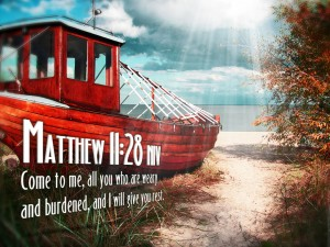 Matthew 11:28 – Come to me Wallpaper