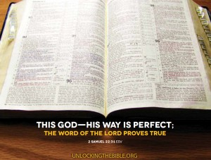 2 Samuel 22:31 – His way is perfect Wallpaper