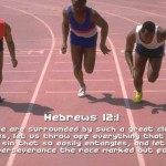 Hebrews 12:1 – Run with Perseverance Wallpaper Christian Background