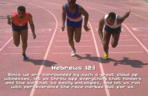 Hebrews 12:1 – Run with Perseverance Wallpaper