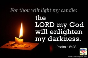 Psalm 18:28 – Darkness into Light Wallpaper