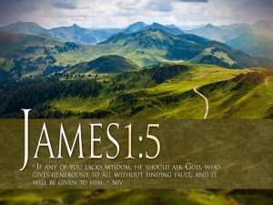James 1:5 – It will be given to you Wallpaper