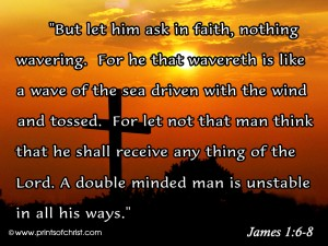 James 1:6-8 – In Faith Wallpaper
