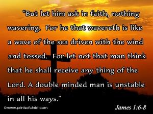 James 1:6-8 – In Faith Wallpaper