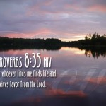 Proverbs 8:35 – Life and favor Wallpaper Christian Background