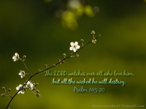 Psalm 145:20 – The Lord Watches Wallpaper