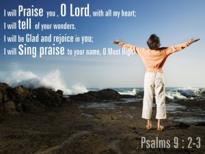 Psalm 9:2-3 – Sing Praises Wallpaper