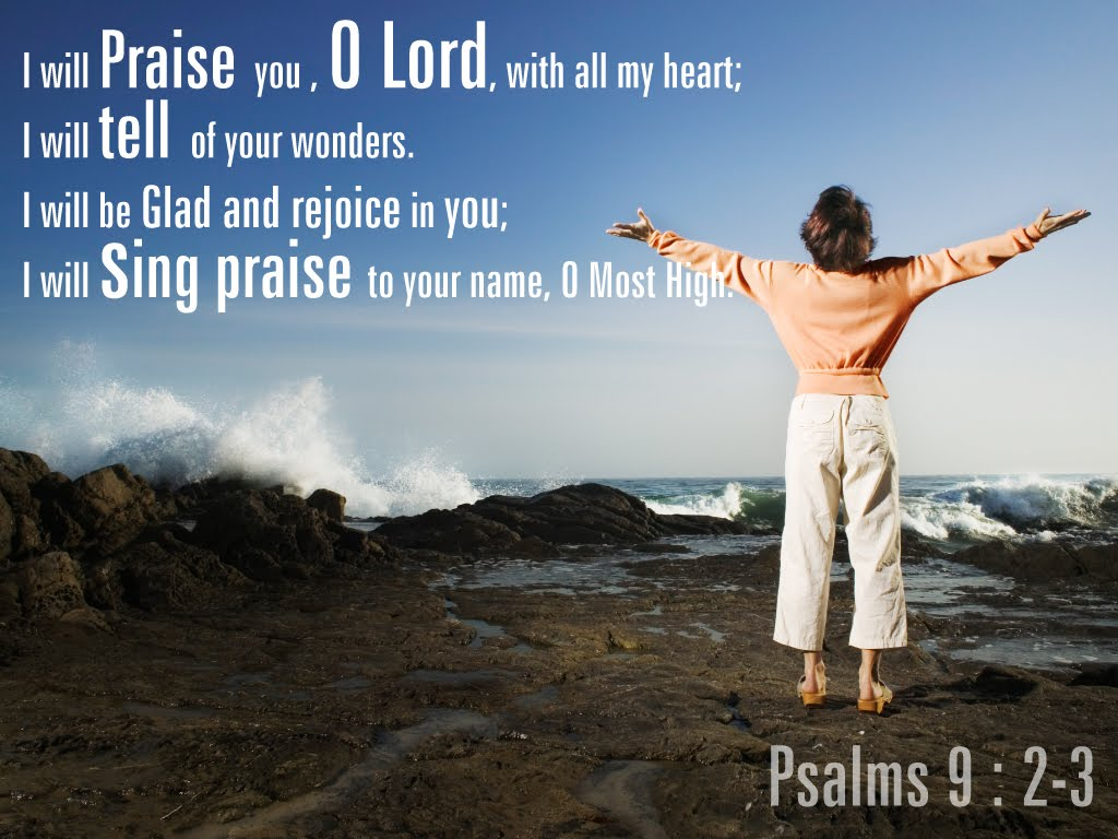 Psalm 9:2-3 – Sing Praises christian wallpaper free download. Use on PC, Mac, Android, iPhone or any device you like.