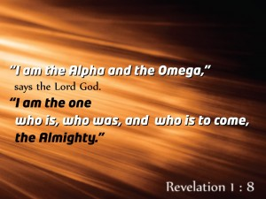 Revelation 1:8 – Alpha and Omega Wallpaper