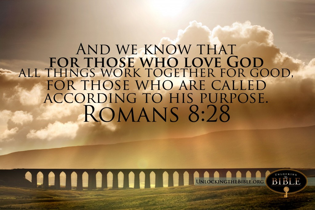Romans 8:28 – Purpose christian wallpaper free download. Use on PC, Mac, Android, iPhone or any device you like.