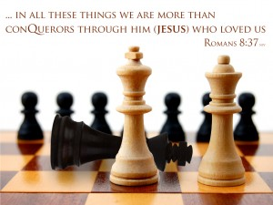 Romans 8:37 – More than Conquerors Wallpaper