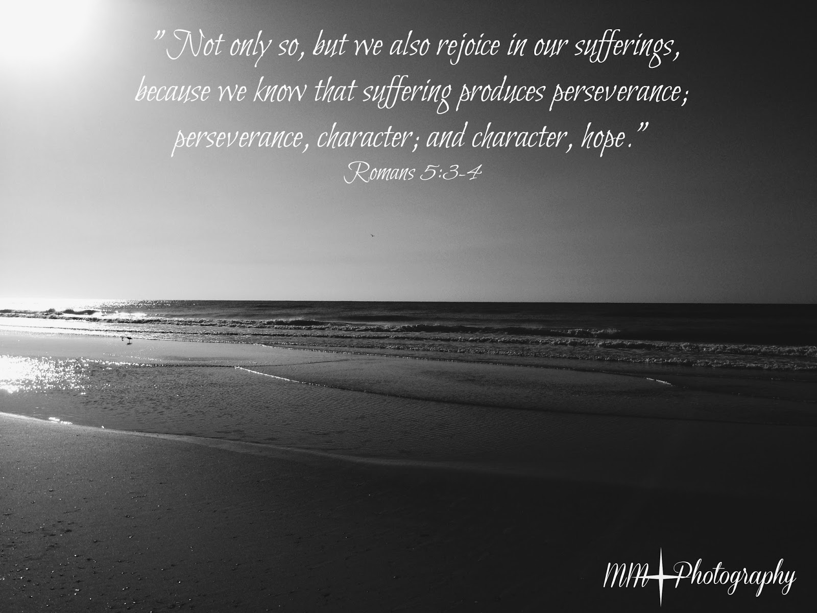Romans 5 3 4 Perseverance Character And Hope Wallpaper