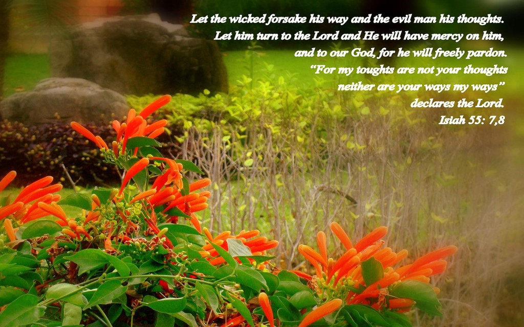 Isaiah 55:7-8 – Turn to the Lord christian wallpaper free download. Use on PC, Mac, Android, iPhone or any device you like.