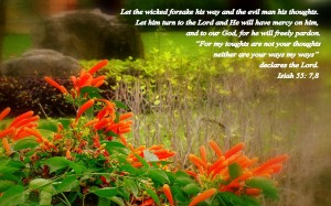 Isaiah 55:7-8 – Turn to the Lord Wallpaper