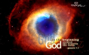 Genesis 1:1 – The Beginning Wallpaper