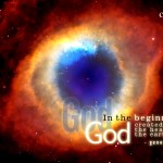 Genesis 1:1 – The Beginning Wallpaper Christian Background