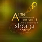 Isa 60:22 – Strong Nation Wallpaper Christian Background