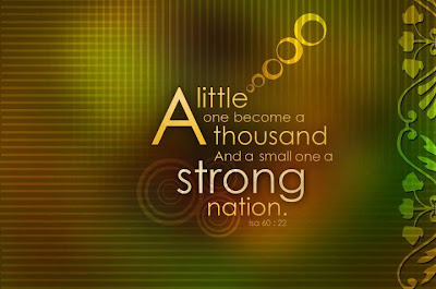 Isa 60:22 – Strong Nation christian wallpaper free download. Use on PC, Mac, Android, iPhone or any device you like.