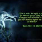Psalm 91:11-13 – His Angels Wallpaper Christian Background