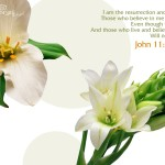 John 11:25-26 – The resurrection and The life Wallpaper Christian Background
