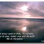 Luke 23:43 – Paradise Wallpaper Christian Background