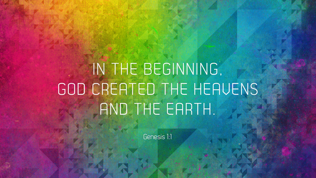 Genesis 1:1 – The Beginning christian wallpaper free download. Use on PC, Mac, Android, iPhone or any device you like.