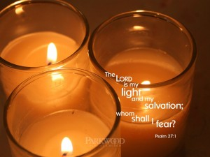 Psalm 27:1 – My Light and Salvation Wallpaper