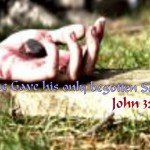 John 3:16 – He gave his only son Wallpaper Christian Background