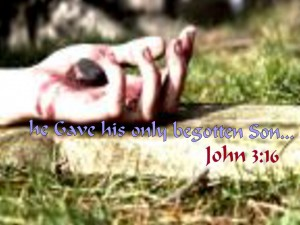 John 3:16 – He gave his only son Wallpaper