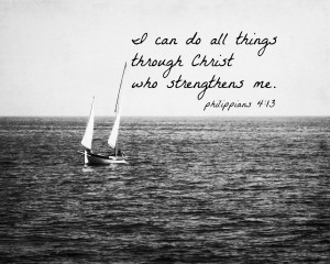 Philippians 4:13 – Christ who Strengthens me Wallpaper