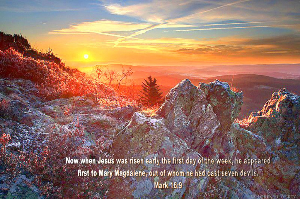 Mark 16:9 – Jesus was risen christian wallpaper free download. Use on PC, Mac, Android, iPhone or any device you like.