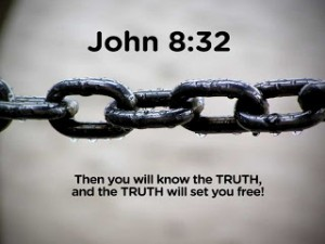John 8:32 – The truth will set you free Wallpaper