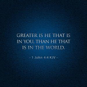 1 John 4:4 – He that is in You Wallpaper