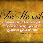 Psalm 91:11 – His Angels Wallpaper Christian Background