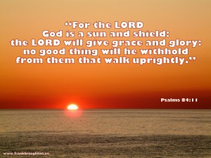 Psalms 84:11 – A Sun and Shield Wallpaper