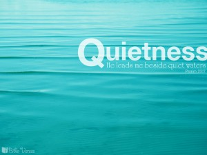Psalm 23:2 – Quietness Wallpaper
