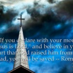 Romans 10:9 – Jesus is Lord Wallpaper Christian Background